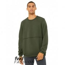 BELLA + CANVAS 3743 FWD Fashion Unisex Raw Seam Crewneck Sweatshirt