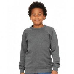 BELLA + CANVAS 3901Y Youth Sponge Fleece Crewneck Sweatshirt