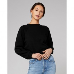 BELLA + CANVAS 7505 Women's Raglan Pullover Fleece
