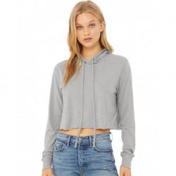 BELLA + CANVAS 8512 Women's Triblend Cropped Long Sleeve Hoodie