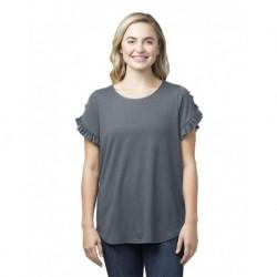 Boxercraft T64 Women's Ruffle Sleeve T-Shirt
