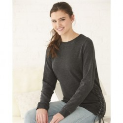 Boxercraft V03 Women's Enzyme-Washed Rally Lace-Up Sweatshirt