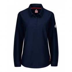 Bulwark QT15 iQ Series Women's Long Sleeve Polo with 4-Button Placket