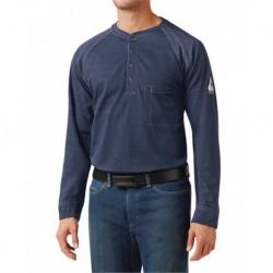 Bulwark QT20L Long Sleeve Henley Long Sizes