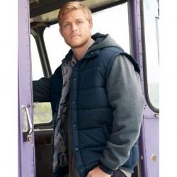 Burnside 8701 Nylon Vest with Fleece Sleeves