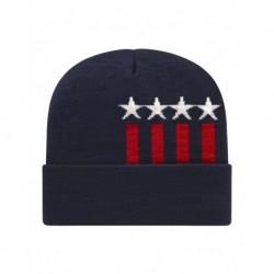 CAP AMERICA RK12 USA-Made Patriotic Cuffed Beanie