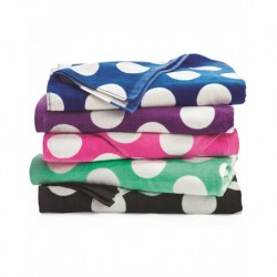 Carmel Towel Company C3060P Polka Dot Velour Beach Towel