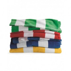 Carmel Towel Company C3060S Cabana Stripe Velour Beach Towel