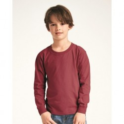 Comfort Colors 3483 Garment-Dyed Youth Midweight Long Sleeve T-Shirt