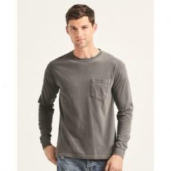 Comfort Colors 4410 Garment-Dyed Heavyweight Long Sleeve Pocket T-Shirt
