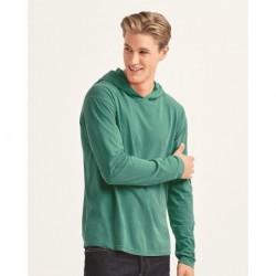 Comfort Colors 4900 Garment-Dyed Heavyweight Hooded Long Sleeve T-Shirt