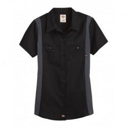 Dickies L24S Women's Short Sleeve Industrial Colorblocked Shirt
