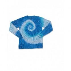 Dyenomite 24BRP Youth Ripple Tie Dye Long Sleeve