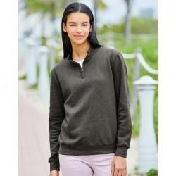 Fruit of the Loom LSF95R Women's SofSpun Quarter-Zip Sweatshirt