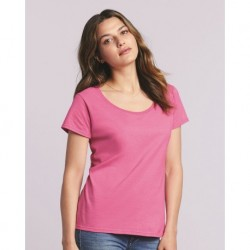 Gildan 64550L Softstyle Women's Deep Scoop Neck T-Shirt