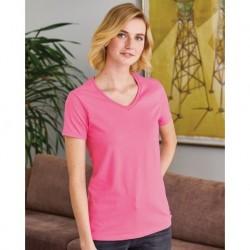 Hanes 5780 ComfortSoft Women's V-Neck Short Sleeve T-Shirt
