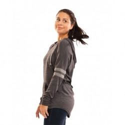 Holloway 229390 Women's Triblend Hooded Long Sleeve T-Shirt