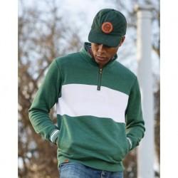 Holloway 229565 Ivy League Fleece Colorblocked Quarter-Zip Sweatshirt