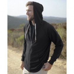 Independent Trading Co. SS1000Z Icon Unisex Lightweight Loopback Terry Full-Zip Hooded Sweatshirt