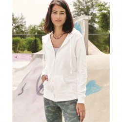 Independent Trading Co. SS650Z Juniors' Heavenly Fleece Full-Zip Hooded Sweatshirt
