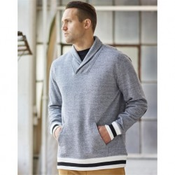 J. America 8704 Peppered Fleece Shawl Collar