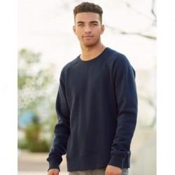 J. America 8707 Ripple Fleece Raglan Crewneck Sweatshirt