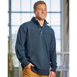 J. America 8708 Ripple Fleece Snap Sweatshirt
