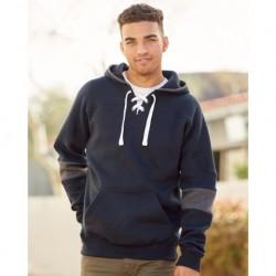 J. America 8832 Sport Lace Colorblocked Fleece Hooded Sweatshirt