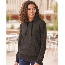 J. America 8860 Women's Glitter French Terry Hooded Sweatshirt