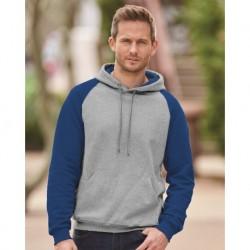 JERZEES 96CR Nublend Colorblocked Raglan Hooded Sweatshirt