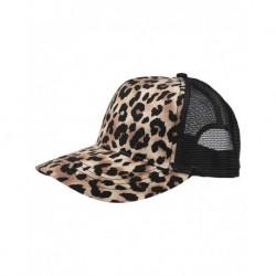 Mega Cap 6885 Leopard Fashion Trucker Cap