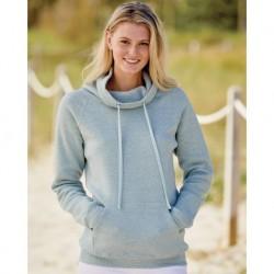 MV Sport W20155 Women's Space-Dyed Cowl Neck Sweatshirt