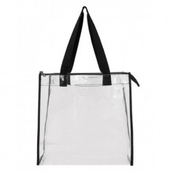 OAD OAD5006 OAD Clear Zippered Tote with Full Gusset