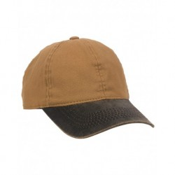 Outdoor Cap HPK100 Weathered Canvas Crown with Contrast-Color Visor Cap