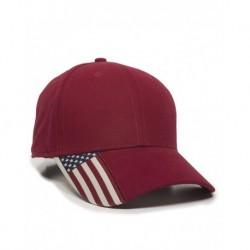 Outdoor Cap USA300 American Flag Cap