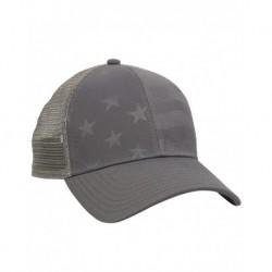 Outdoor Cap USA750M Debossed Stars and Stripes Mesh-Back Cap