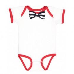 Rabbit Skins 4407 Baby Rib Infant Bow Tie Bodysuit