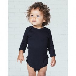 Rabbit Skins 4411 Infant Long Sleeve Baby Rib Bodysuit