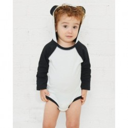 Rabbit Skins 4418 Fine Jersey Infant Character Hooded Long Sleeve Bodysuit with Ears