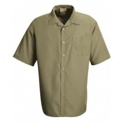 Red Kap 1K00 Linden Grey Microfiber Convertible Collar Shirt