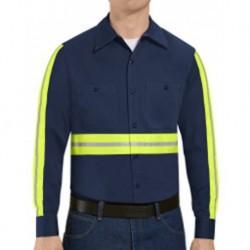 Red Kap SC30E Enhanced Visibility Long Sleeve Cotton Work Shirt