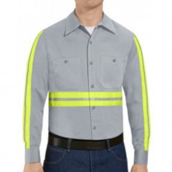 Red Kap SC30EL Enhanced Visibility Cotton Work Shirt Long Sizes