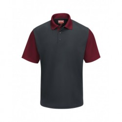 Red Kap SK56 Short Sleeve Performance Knit Color-Block Polo