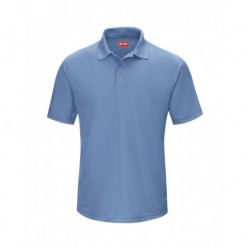 Red Kap SK74 Short Sleeve Performance Knit Gripper-Front Polo
