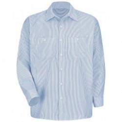Red Kap SL10L Industrial Stripe Work Shirt Long Sizes