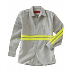 Red Kap SP14E Industrial Enhanced-Visibility Long Sleeve Work Shirt