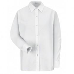 Red Kap SP15 Women's Long Sleeve Specialized Pocketless Poplin Work Shirt