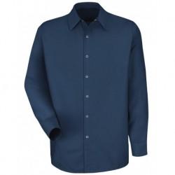 Red Kap SP16L Specialized Pocketless Long Sleeve Workshirt Long Sizes