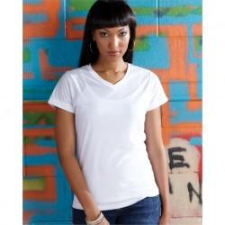 SubliVie 1507 Women's V-Neck Polyester Sublimation Tee