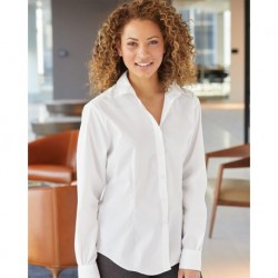 Van Heusen 13V5053 Women's Cotton/Poly Solid Point Collar Shirt